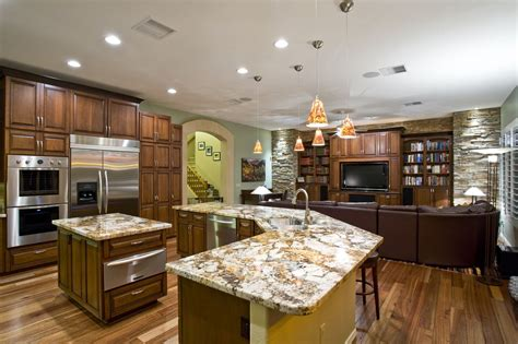 Kitchen Island And Breakfast Bar - sk kitchen family room beautiful remodel