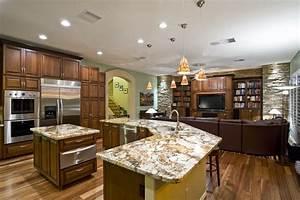 beautiful kitchen sk kitchen family room beautiful With kitchen and family room design