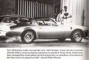 Eric Dickerson with his new Gold Trans-Am shortly before