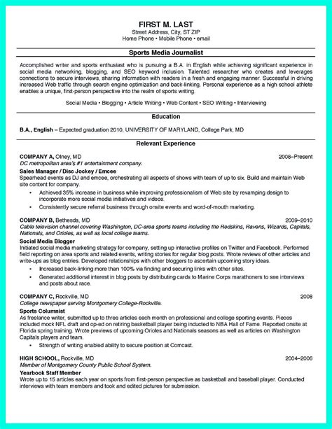 College Resume Templates by The College Resume Template To Get A