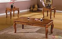 oak accent tables Maywood Transitional Antique Oak Accent Tables CM4400