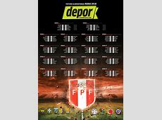 Selección Peruana el fixture actualizado de las