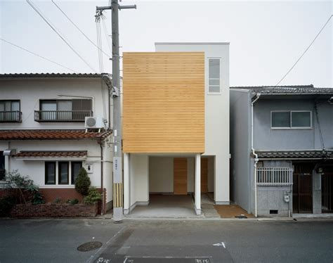 Narrow Kitchen Ideas Home by Minimalist Japanese Residence Enhancing A Narrow Site