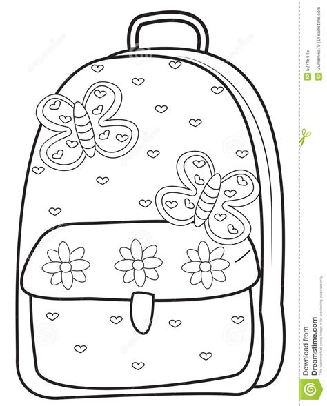 backpack template backpack coloring pages