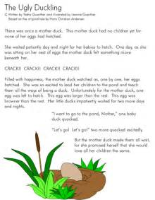 Ugly Duckling Printable Story