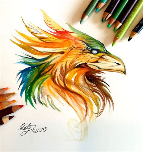 wild animal spirits  pencil  marker illustrations
