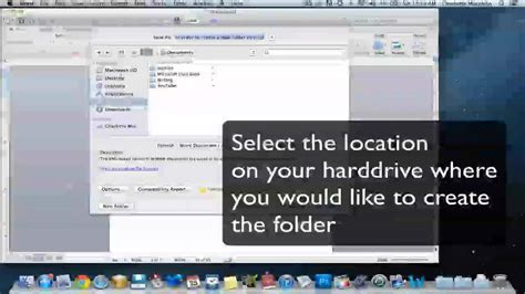 Create A New Folder On Mac Through Microsoft Word Youtube