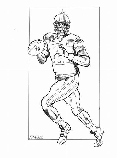 Coloring Football Newton Cam Player Drawing Panthers