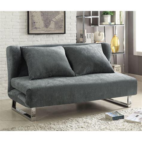 Contemporary Sofa Company by Coaster Company Contemporary Sofa Bed Grey Velvet Fabric