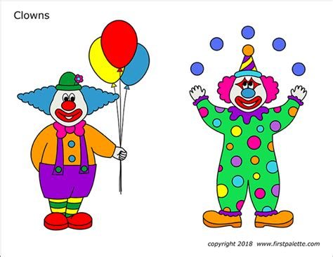 clowns  printable templates coloring pages firstpalettecom
