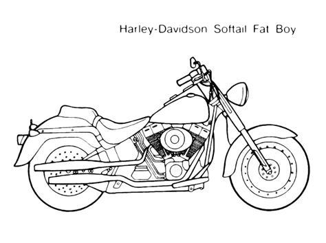 moto harley davidson softail immagine da colorare
