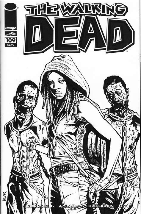 walking dead  tv shows printable coloring pages