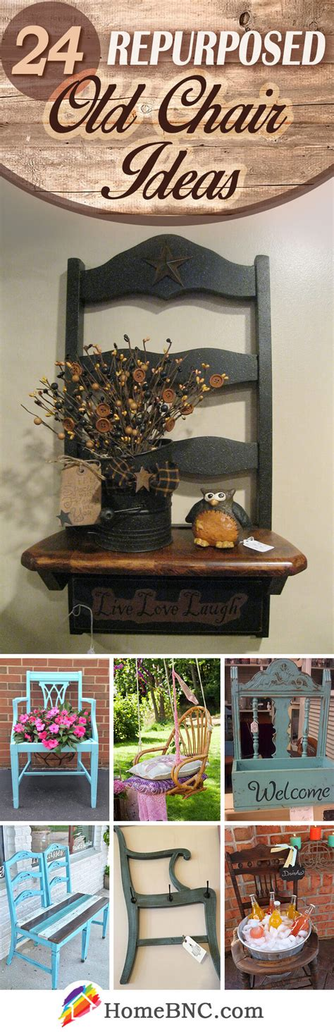 repurposed  chair ideas  designs