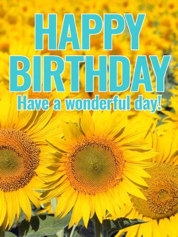 joyful sunflower happy birthday card birthday greeting