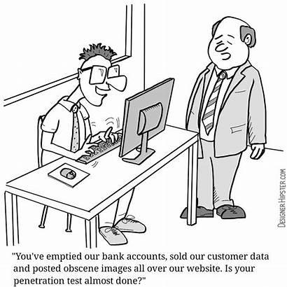 Penetration Cartoons Testing Cartoon Audit Accounting Comics