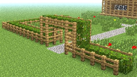 minecraft   build  wooden fence youtube