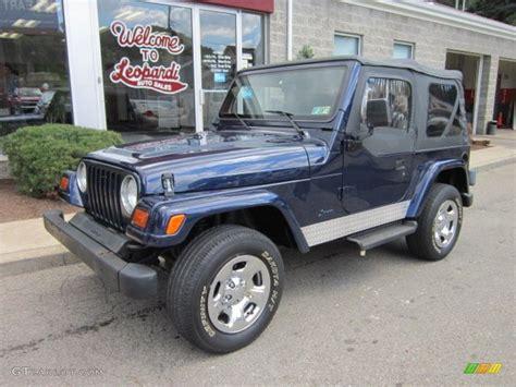 jeep dark blue 1997 dark blue pearl jeep wrangler se 4x4 52817492