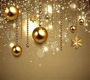 Golden Christmas 3D and CG & Abstract Background