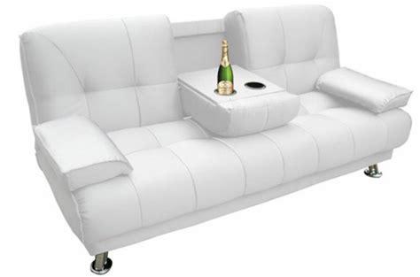 canapé convertible 3 places blanc turino design sur sofactory