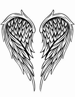 Image result for Angels Adult Coloring Pages Designs | Tattoo | Wings drawing, Angel wings