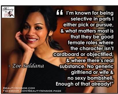 Saldana Zoe Quotes Relatably Nancy