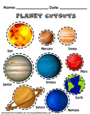 planet cutouts free printable worksheets planets 270 | 3546ff9f762f473fca66b17a9318a482