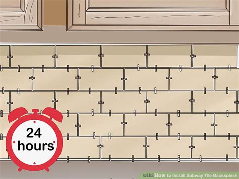 how to install subway tile kitchen backsplash how to install subway tile backsplash with pictures 9458