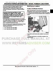 John Deere Select Series Tractors X300 Technical Manual Tm
