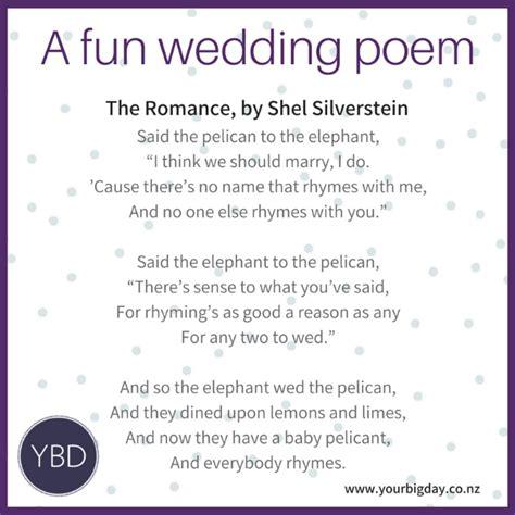 fun poems   wedding ceremony  big day