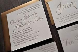 gold metallic letterpress wedding invitations from jupiter With letterpress wedding invitations gold coast