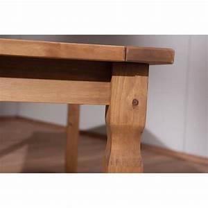 Table Chene Massif Rustique : table de salle manger rustique en pin massif ch ne cir mexico ~ Teatrodelosmanantiales.com Idées de Décoration