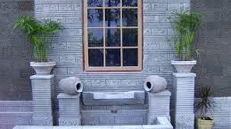 tren keramik dinding luar motif batu alam youtube