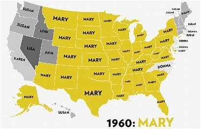 Names Popular Map Ever Changing State Usa