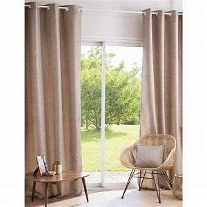 Rideau A Oeillet : rideau illets gris et dor 135x250 evans maisons du monde ~ Dallasstarsshop.com Idées de Décoration