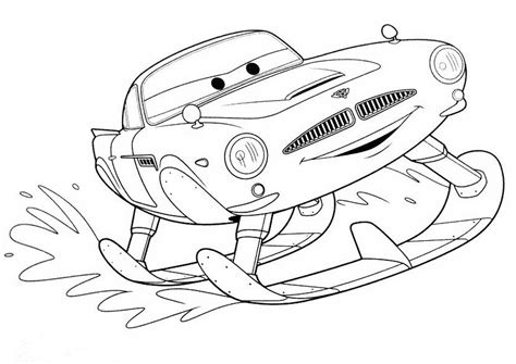 disney cars finn mcmissile coloring pages printable