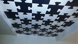 Dalles De Plafond A Coller : faux plafond puzzle en polystyr ne youtube ~ Nature-et-papiers.com Idées de Décoration