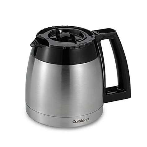 coffee maker with stainless carafe cuisinart 174 thermal replacement carafe bed bath beyond 8241