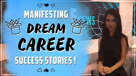 manifesting dream careers law  attraction success stories youtube