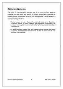Dissertation acknowledgements example custom thesis for Acknowledgement dissertation template