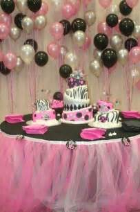 Sweet 16 Birthday Party Table Ideas