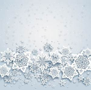 Snowflake flyer background template free vector download ...
