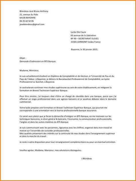 licence pro cuisine 4 lettre de motivation bts banque lettre de preavis
