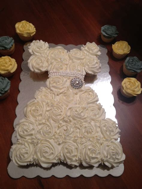 wedding dress cupcakes bridal shower party favors