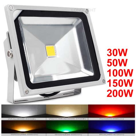 projecteur led exterieur 100w led flood light 30w 50w 100w 150w 200w outdoor lighting 110v 220v 4000k advertising projecteur