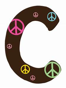 c peace sign letter wall decals With peace sign letter