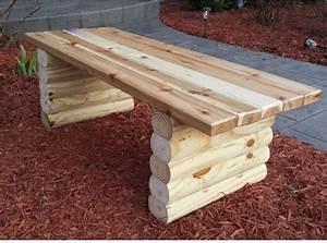 Bank Aus Holzstamm : 39 diy garden bench plans you will love to build home and gardening ideas ~ Markanthonyermac.com Haus und Dekorationen