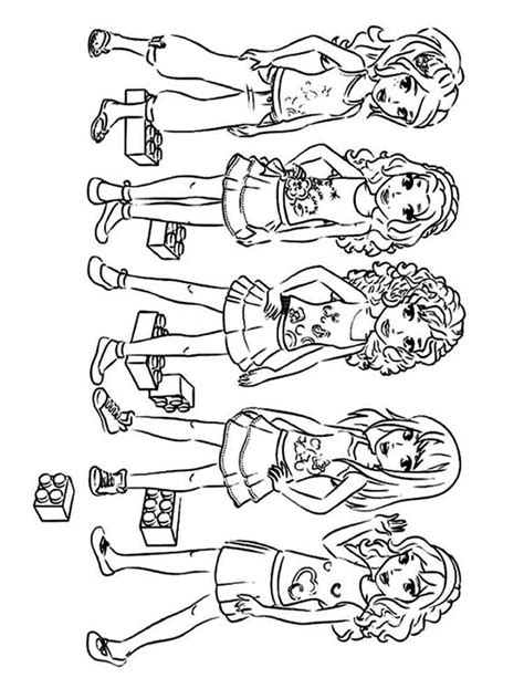 lego friends printable coloring pages lego friends