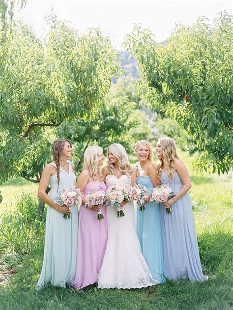 pastel color bridesmaid dresses pastel blue bridesmaid dresses wedding ideas chwv