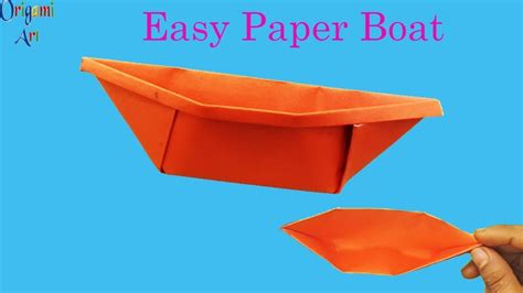 How To Make A Paper Boat Art by How To Make Paper Boat Easy Origami Boat Simple Crafts For