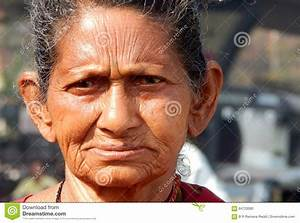 Portrait Of Indian Poor Senior Or Old Woman Editorial ...